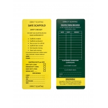 Scaftag Card For Sale Online - Direct Scaffolding Supplies